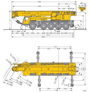 Autokraana 95t Liebherr LTM 1095